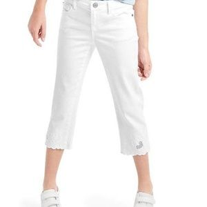 NWT Gap Eyelet Straight Crop Jeans , Size 16
